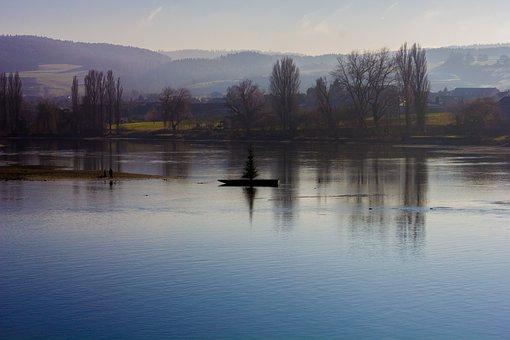Sunset, Stein Am Rhein, Switzerland, Schaffhausen, Lake