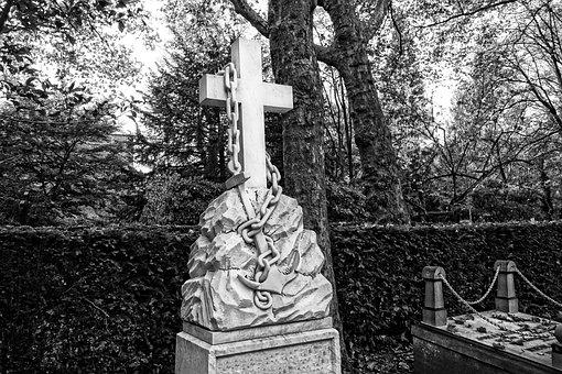 Cross, Tomb, Grave, Graveyard, Chain, Hammer, Symbol