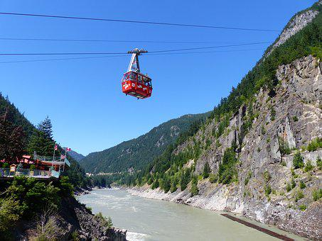 Hells Gate, Air Tram, River, Fraser Valley, Mountain