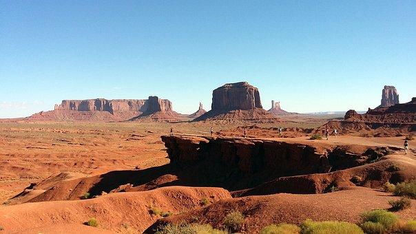 Monument Valley, Usa, Arizona, Desert, Panorama