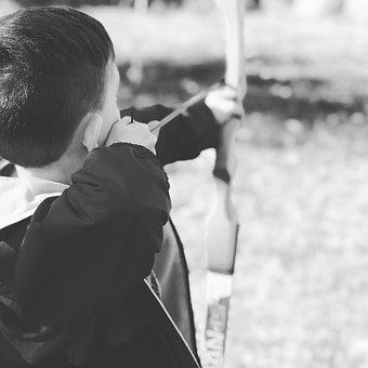 Arc, Arrow, Children, Target, Shooting, Boy, Accuracy