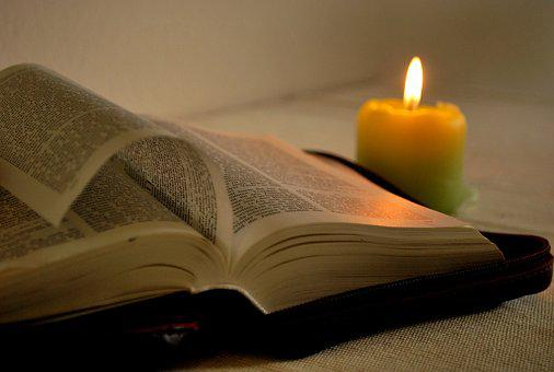 Read, Book, Candle, Bible