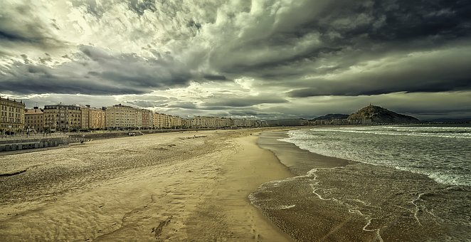 Beach, Sea, Sand, Clouds, Sky, San, Coastal, Tourism