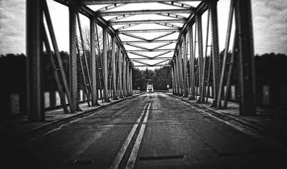 Bridge, Iron, Crossing, The Viaduct, Traction