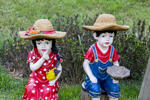 Dolls, Statues, Garden, Spring, Nature, Perfume