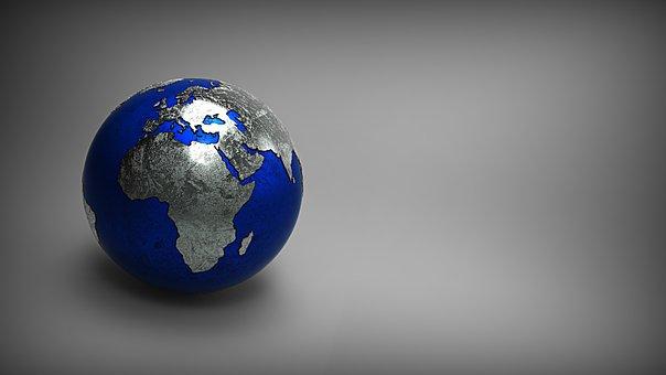 3d Model, World, Earth, Geography, Education, Globe