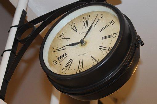 Clock, Station, Train, Vintage, Old, Hour, Minutes