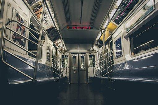 City, Empty, Nyc, Subway, Train, Transportation, Car