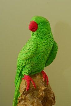 Parrot, Statue, India