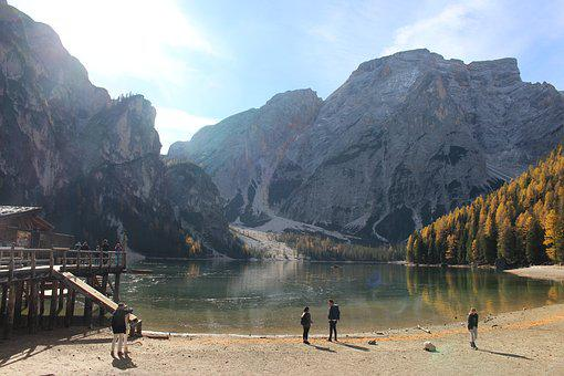 Pragser Wildsee, Prague, South Tyrol, Bergsee, Lake