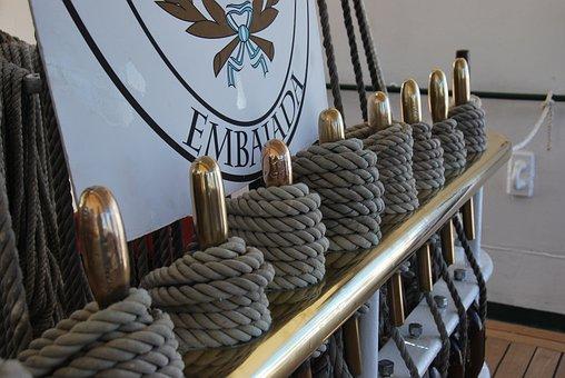 Maritime, Ship, Sailing Vessel, Ropes, Libertad