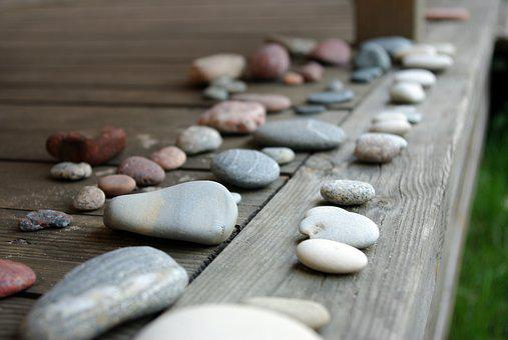 Stones, Pebbles, Nature, Decoration, Round, Wood