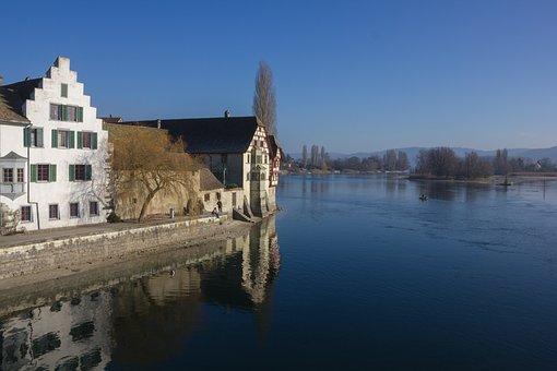 Stein Am Rhein, Switzerland, Schaffhausen, Lake, Water