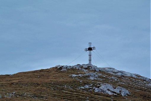 Summit, Cross, Summit Cross, Mountain, Sky