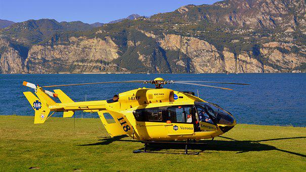 Helicopter, Rescue, Lake, Mountain, 118, Emergency
