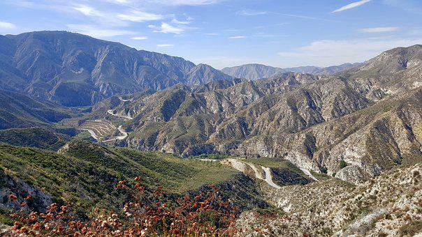 Mountain, Angeles Forest, California, National, Canyon