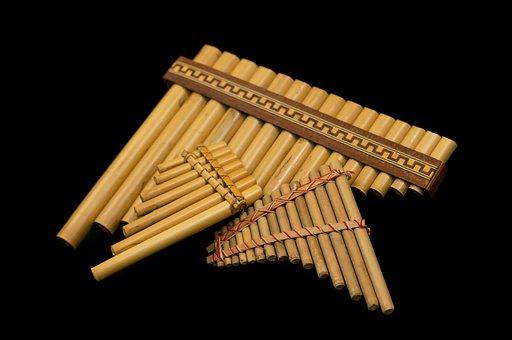 Bamboo Flute, Back Background, Flute, Instrument, Music