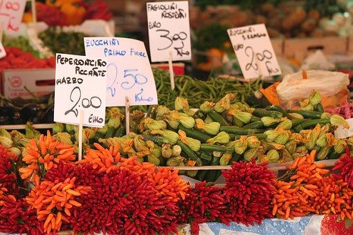Italy, Venice, Europe, Colourful, Italian, Vegetables