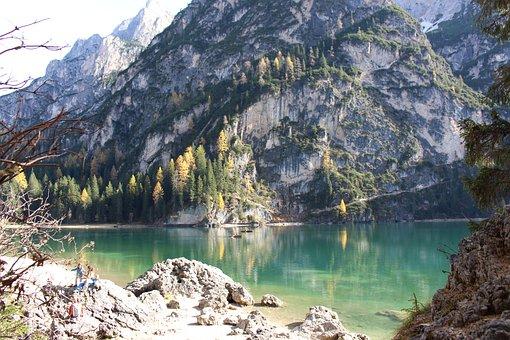 Pragser Wildsee, South Tyrol, Lake, Bergsee