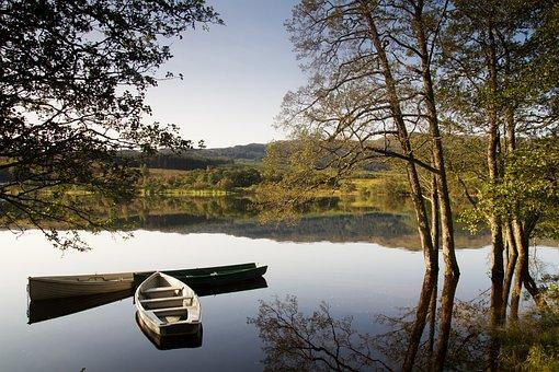 Lake, Boat, Still, Water, Nature, Vacation, River