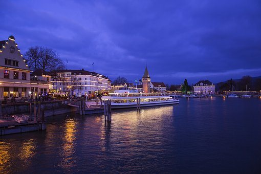 Lindau, Lake Constance, Port, Harbour Entrance, Germany