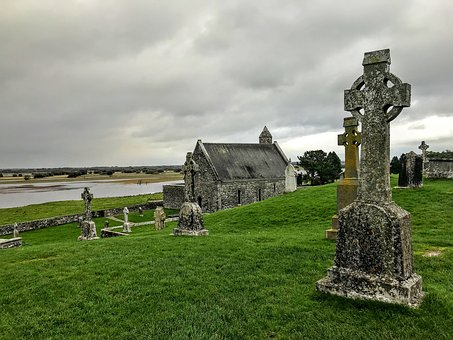 Cemetery, High Cross, Ireland, Old