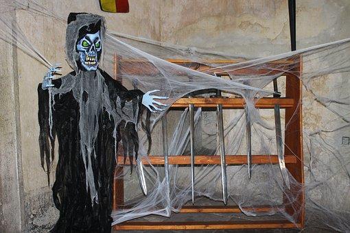 The Grim Reaper, Spook, Skeleton, Creepy, Dungeon