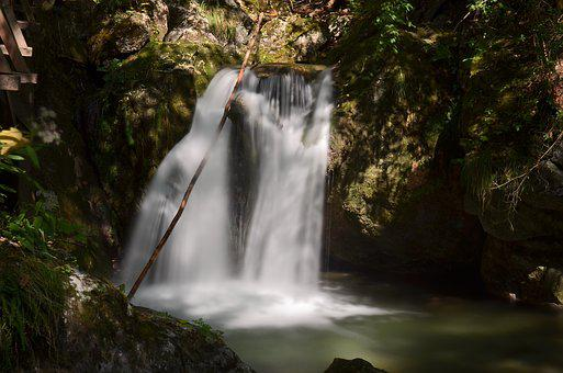 Waterfall, Myrafälle, Lower Austria, Stone Wall Gorge