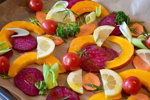 Vegetables, Pumpkin, Hokkaido, Beetroot, Lemon, Tomato