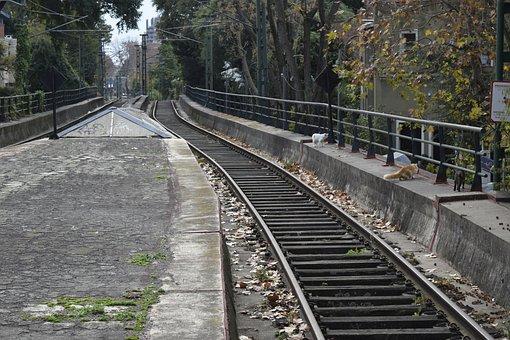 Rails, Train, Railroad, Landscape
