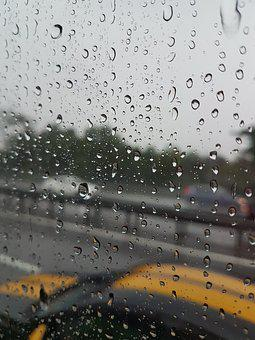 Raining, Road, Car, Rain, Wet, Water, Weather, Street
