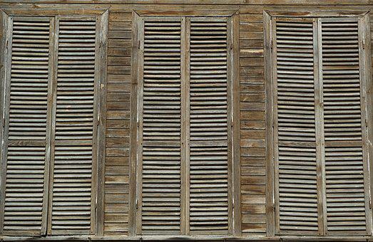 Window, Wood, Wood-fibre Boards, Old, Home, Closed