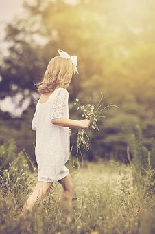 Girl, Walking, Young, Nature, Outdoor, Childhood
