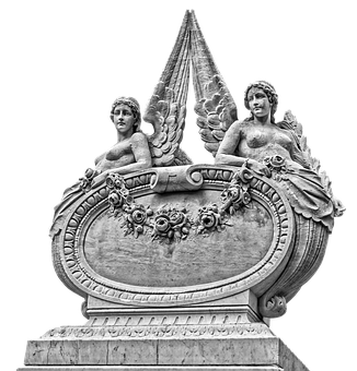 Angel, Wing, Monument, Mystical, White, Art, Female