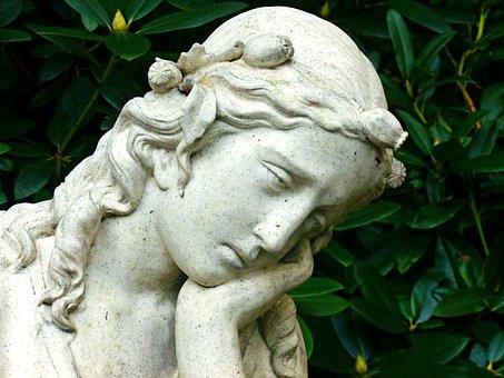 Angel, Woman, Head, Face, Figure, Sculpture, Angel Face