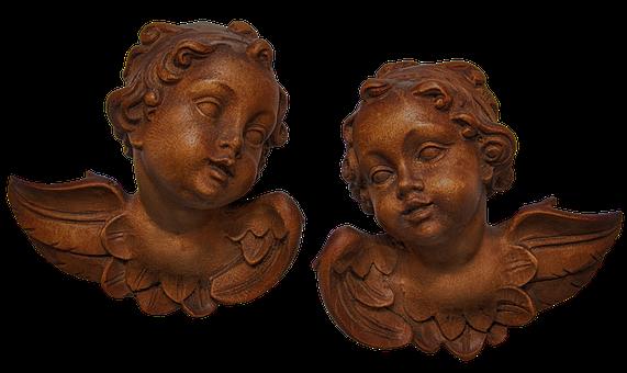 Angel, Wood, Carved, Deco, Guardian Angel, Church