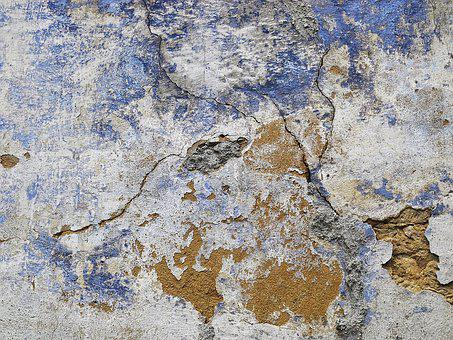 Wall, Background, Plaster, Grunge Stained, Structure