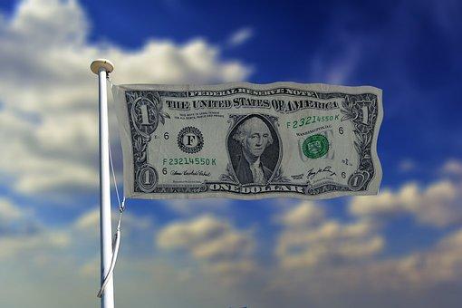 Banner, Header, Usa, Flag, Dollar, Currency, Money