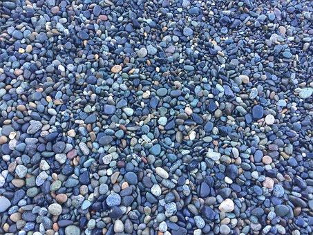 Pebbles, Beach, Rocks, Blue, Nature, Rock, Stone