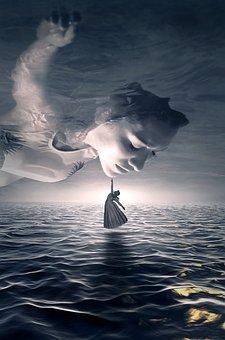 Fantasy, Book Cover, Portrait, Sea, Water, Woman