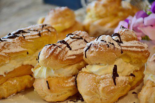 Eclairs, Pastries, Choux Pastry, Cake, Bake, Filled