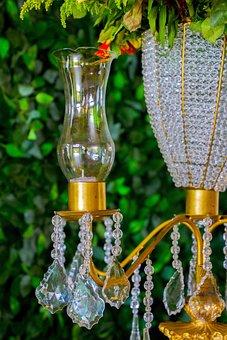 Candle Holder, Glass, Garnish, Lights, Parties