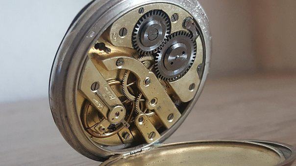 Pocketwatch, Movement, Vintage, Clock, Time, Antique