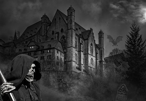 Castle, Ghost Castle, Darkness, Weird, Mystical