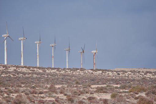 Pinwheel, Wind Power, Wind Energy, Desert, Energy, Old