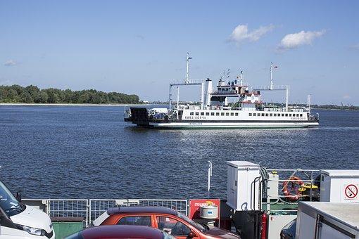 Ferry, Ship, Car Ferry, Crossing, Transport, Shipping