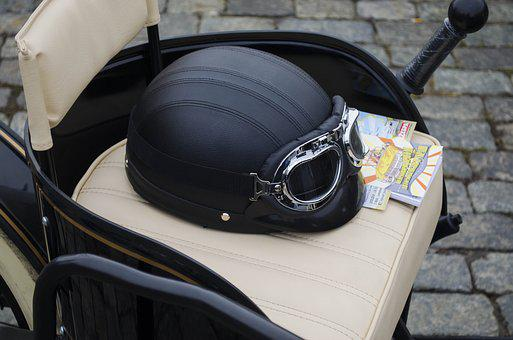 Armchair, Leather, Helmet, Glasses, Leather Chair