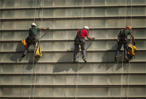 Kursaal, Hung, Cleaning, Helmet, Ropes, Prevention