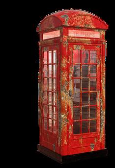London, Phone Booth, British, City, Red Telephone Box