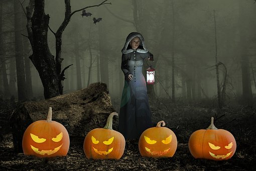 Halloweenkuerbis, Halloween, Pumpkin, Composing, Weird